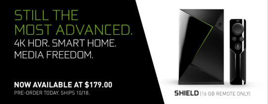 Now Streaming: SHIELD TV with Remote – Pre-Order for $179!