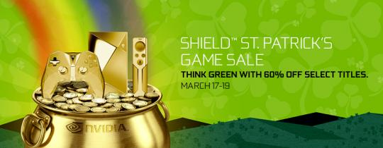 NVIDIA SHIELD ST. Patrick's Day Game Sale