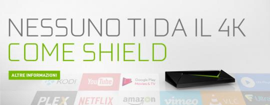 Guarda film e contenuti 4K in streaming su NVIDIA SHIELD